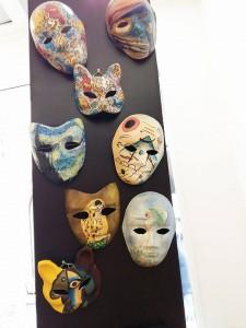 maschere di carnevale dipinte